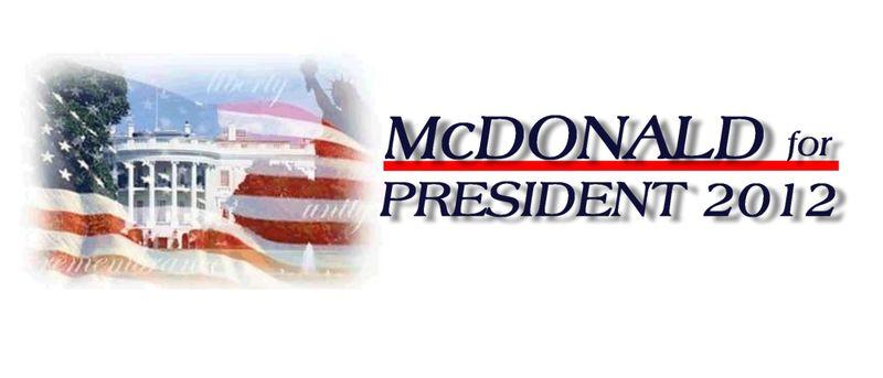 McDonald For President 2012